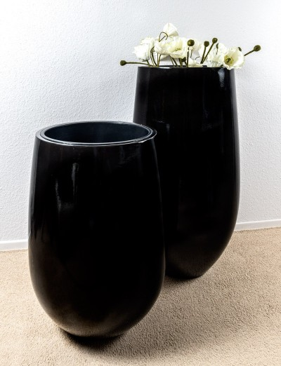 Zwarte design sierbloempotten