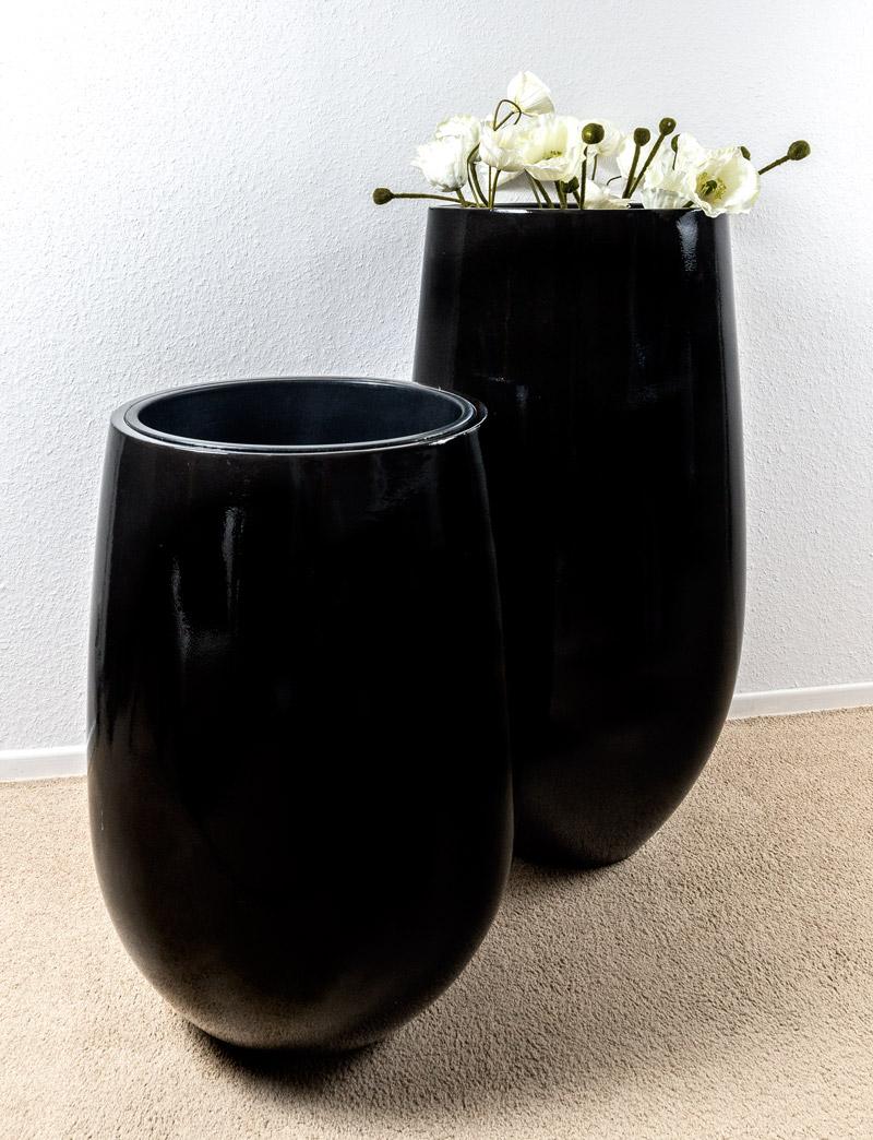 zwarte bloempotten