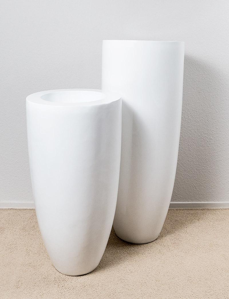 Decoratie Witte Bloempotten Interclass