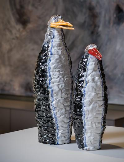 Decoratieve keramieken pinguïns