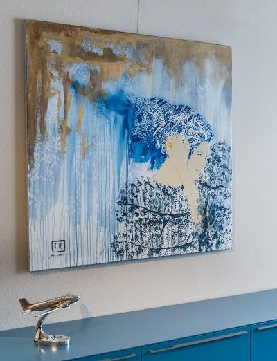 Schilderij - Cabeza by J. Jurado