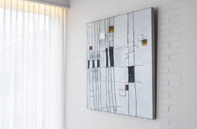 Schilderij - Silver ropes