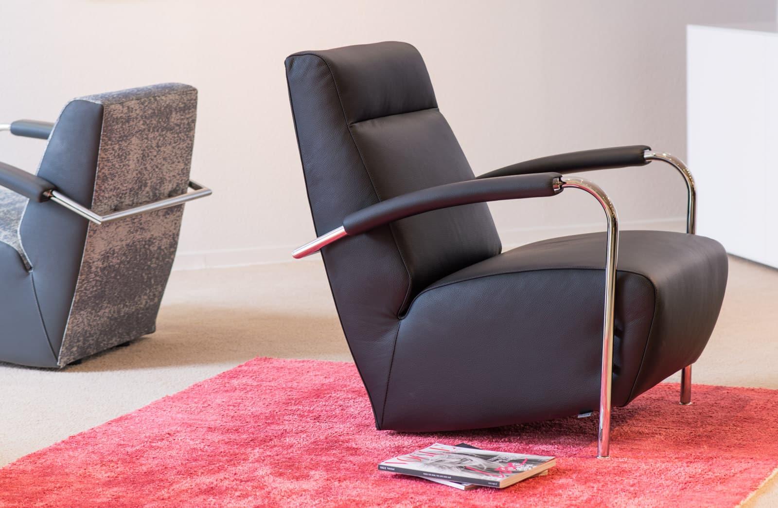 lederen fauteuil