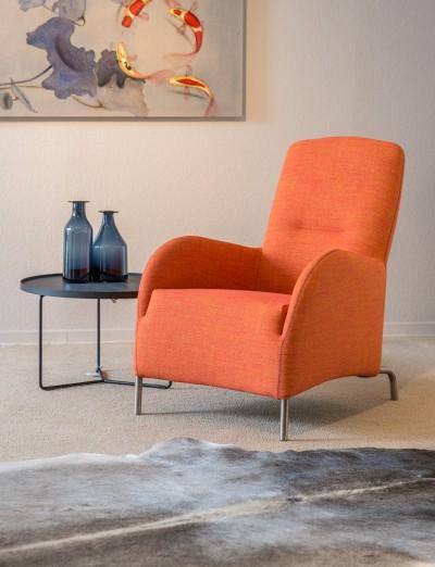 Oranje fauteuil