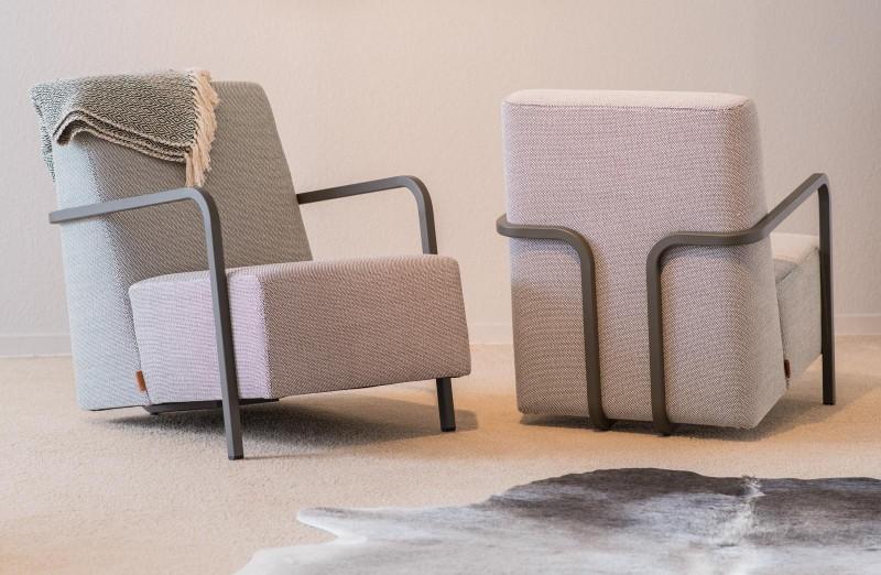 Stoffen design fauteuil
